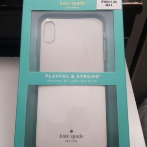 """Case kate spade for iphone xs max 6.5"""" clear-white"""